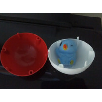 Mini Pokebola 4cm + Pokémon 3 Cm