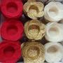 Vermelho/Marfim/Dourado