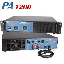 Amplificador Potência New Vox Pa1200 600w Rms Musical Baruk