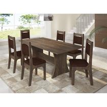 Conjunto De Mesa Sonetto New Apollo 150x80 Cm Com 6 Cadeiras