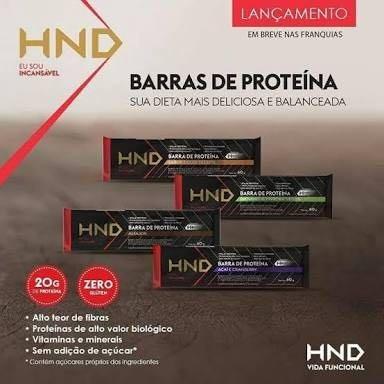 18217a748 Barra De Proteína Hnd - 60g - Kit 06 Unidades Hinode - R  109