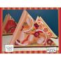 Servilletero Evento Personalizado Cumple Show Madera Pizzas