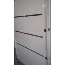Porta Pivotante De Alumínio Com Frisos Cromados 1100x2100