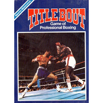 Title Bout Professional Box - Juego De Mesa Usa 1979 Cerrado