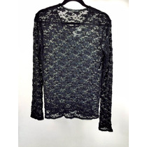Blusa Dama Marca Zara En Encaje Negro