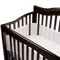 Cuna Sabana Breathablebaby Mesh Crib Liner- Blanco
