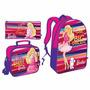 Bolso Escolar Cartuchera Y Lonchera Barbie