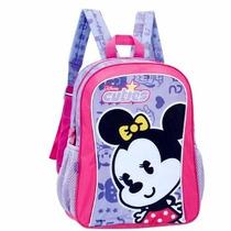 Mochila Infantil Minnie Licenciado Disney Costa Meninas Novo