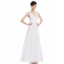 Vestido Blanco Novia De Gasa Talles 3xl Gordita Moda Pasión