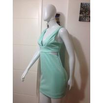 Vestido Curto Verde Água Aquamar Novo Sexy