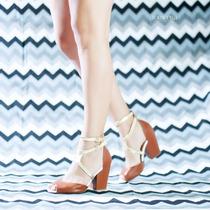Sandália Torricella Salto Grosso Marrom Branco Dourado