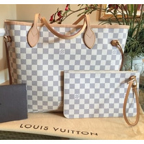 Louis Vuitton Neverfull Damier, Azur Bolsa