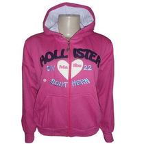 Blusa Hollister Feminina De Moleton Casaco Jaqueta Rosa Pink