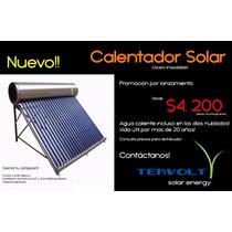 Calentador Solar, Ahorro De Hasta Un 80% En Recibo De Gas!!