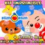 Kit Imprimible Payaso Plim Plim Candy Bar Golosinas Mas 2x1