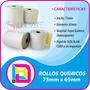 Rollos Quimicos 75x65 | 50 Rollos X Caja