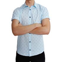 Camisa Mc Estampado Circulo Azul