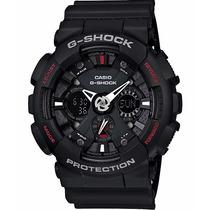 Relógio Casio G-shock Ga-120 1a Wr-200 5 Alarmes H.mundial P