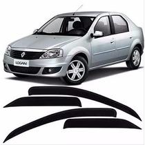 Calha De Chuva Renault Logan 2007 08 09 10 11 12 2013 - 4p