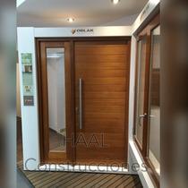 Puerta Portada Oblak Madera 2331 Con 1 Lateral Y Barral 80cm