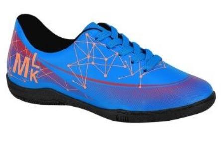 Chuteira Futsal Indoor Infantil Molekinho Azul laranja 2808 - R  79 ... 3cf1ba8204a84
