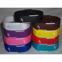 Relógio Led Digital Sport Nike Pulseira Silicone Bracelete