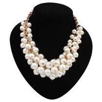 Bisuteria Collares Moda Vintage Perlas Grande