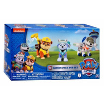 Paw Patrol Action 3 Pack Rubble Everest Y Robodog 2016