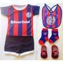 Kit Bebe San Lorenzo Camiseta+escarpines+medias+babero -boca