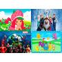 Painel De Decoração Festa 2,45x1,50, Frozen E Outros Temas