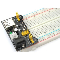 Combo Protoboard Mb102 Miyako Con Fuente Usb Dc 5v 3.3v