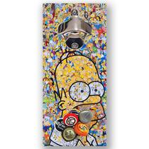 Abridor Imã Homer Simpson Colagem Legal Gruda Tampinha Mdf