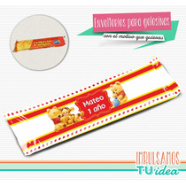 Winnie Pooh Bebé - Envoltorio Turrón Para Imprimir