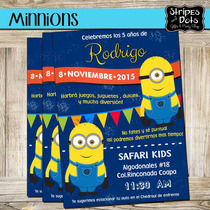 Invitaciones De Minnions-despictable Me-invitaciones-digital