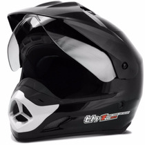Capacete Motard Pro Tork Th1 Helmet Preto Esportivo