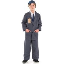 Disfraz D/evacuado Extra Grande Traje P/niños Guerra Mundial