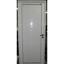 Puerta Aluminio 80x200 Blanco Ciega Reforzada