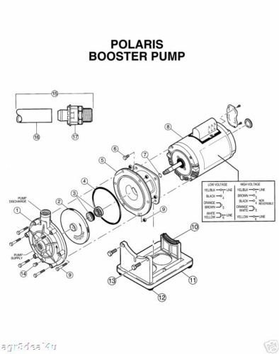 Polaris Pb4 60 Booster Pump Impeller For Pool Pump Motor