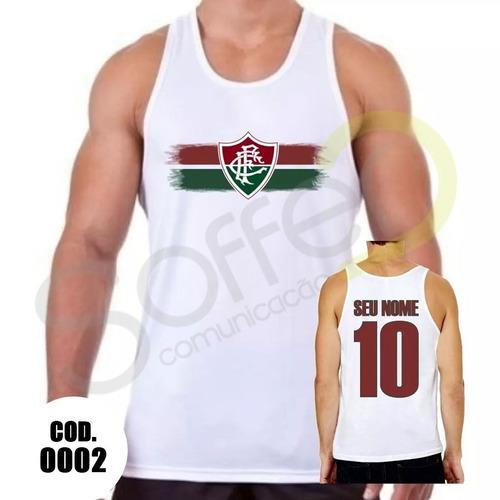 307f003053 Camiseta Regata Fluminense Futebol Personalizada Com Nome - R  26