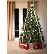 Árvore Natal Canadense Decorada 1,80 M 650 Pontas Pisca Leds