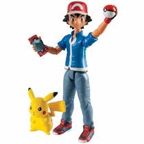 Pokemon : Ash + Pikachu . Original- Jugueteria Minijuegos!