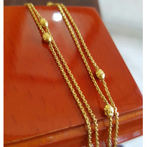 Elegante Cadena Oro De 14k 39.5 Cm 1.4 Gramos