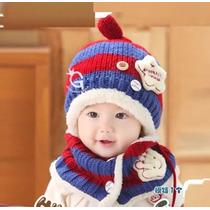 Roupa Infantil Pra O Frio Cachecol E Touca Conjunto Forrado