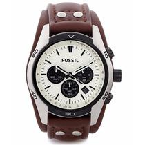 Reloj Fossil Mod. Ch2890 Correa Cafe Cronometro Para Hombre