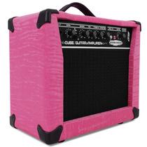 Caixa Amplificada P/ Guitarra Sound Maker Cube Rosa Som G15