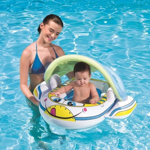 Flotador c techo inflable proteccion piscina juguete for Piscina inflable bestway