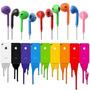 Fone De Ouvido Iphone 5 Apple Ipad Ipod Entrada P2- Colorido
