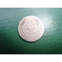 50 Réis De 1886 Em Niquel Império Dom Pedro Rara Bc Oportuni