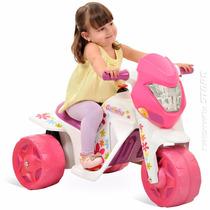 Ban Moto Elétrica Infantil Menina Rosa Gatinha Bandeirante