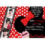 50 Convite 10x15 Mickey Minnie Com 4 Fotos Aniversário